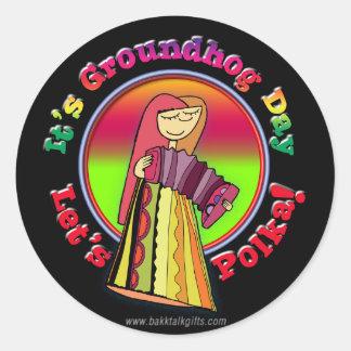 It's Groundhog Day! Classic Round Sticker