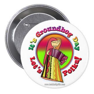 It's Groundhog Day! Pinback Button