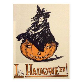 It's Halloween! (Vintage Halloween Card) Postcard