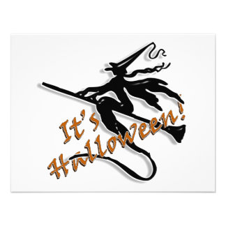 It's Halloween Witchy Silhouette Announcements