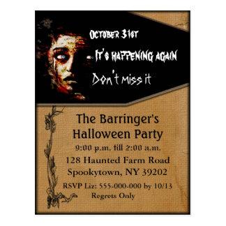 It's Happening Again Postcard invite