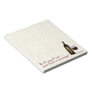 It's Happy Hour leave a message ... Note Pad
