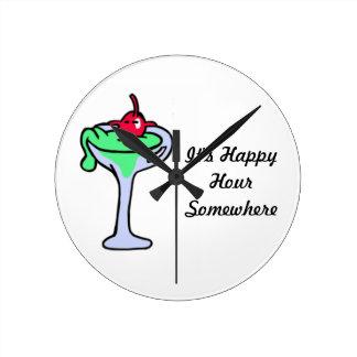 It's Happy Hour Somewhere Clock