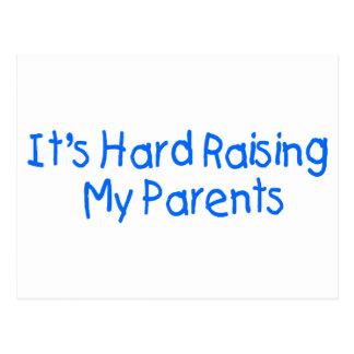It's Hard Raising My Parents 2 Postcard