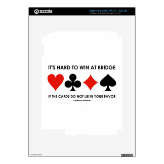 It's Hard To Win At Bridge If The Cards Do Not Lie iPad 3 Decal