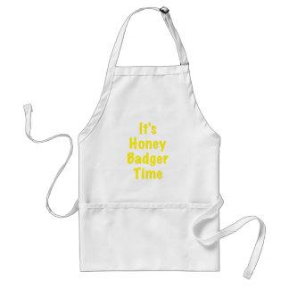 Its Honey Badger Time Adult Apron