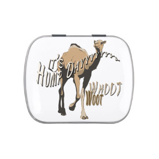 It's Hump Day Funny Camel Jelly Belly Candy Tin