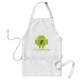 It's Ice Cream Time Bug Droid Chocolate Ice Cream Adult Apron