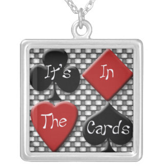 It's In the Cards Checkered Cartomancy Necklace