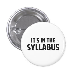 It's In The Syllabus Button