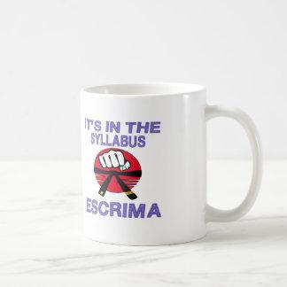 It's in the syllabus Escrima. Coffee Mug