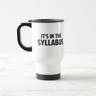It's In The Syllabus Coffee Mug