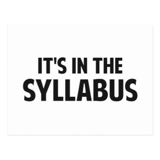 It's In The Syllabus Postcard