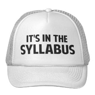 It's In The Syllabus Trucker Hat
