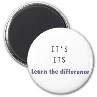 It's Its Grammar 2 Inch Round Magnet