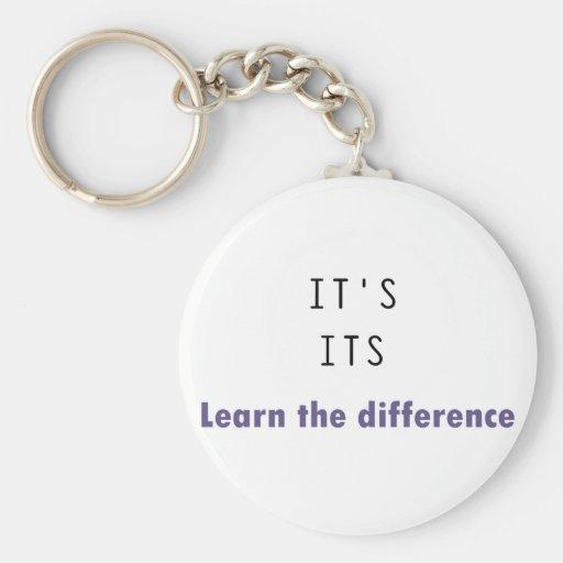 It's Its Grammar Basic Round Button Keychain