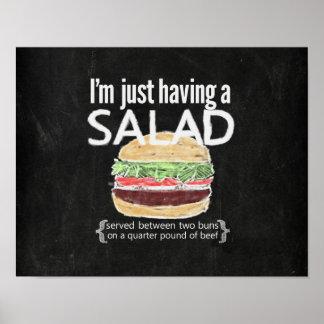 It's just a salad (ahem....burger) funny poster