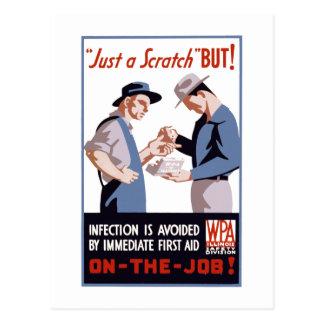 It's Just a Scratch - But! Postcard
