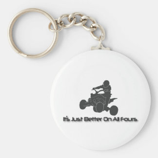 It's Just Better on All Fours Basic Round Button Keychain