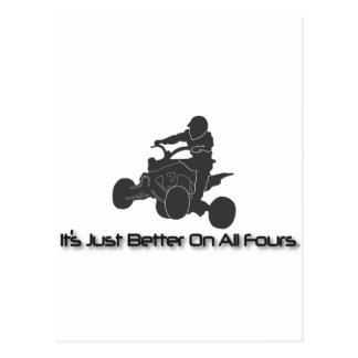 It's Just Better on All Fours Postcard