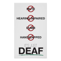 It's just Deaf. poster