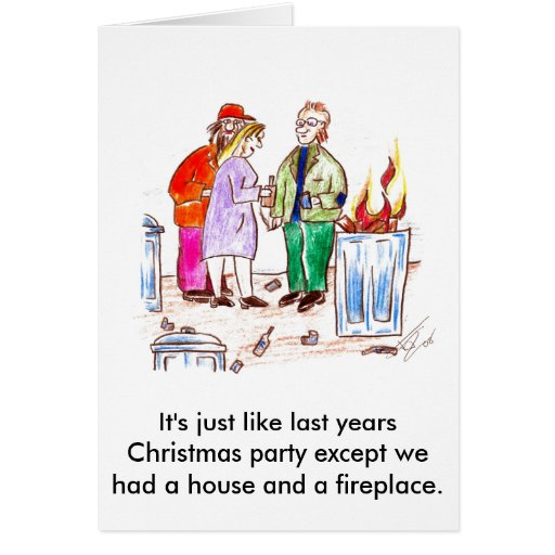 It's just like last years party. greeting card