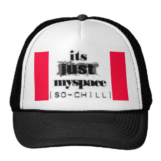 its just myspace so chill made 4 brittani and any1 trucker hat