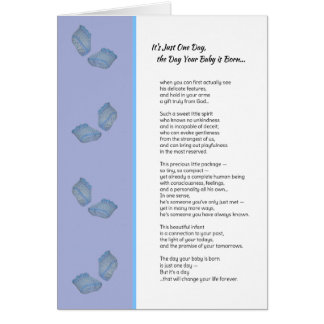 It's Just One Day...New baby boy Greeting Card