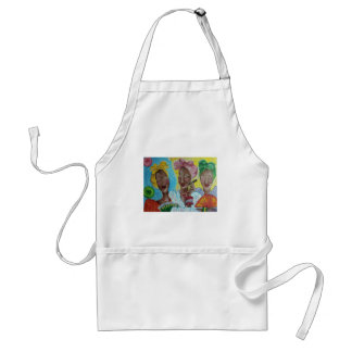 its just us 4 girls having a conversation adult apron
