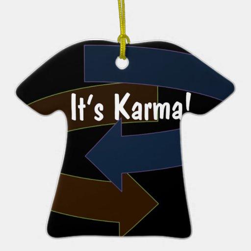 It's Karma T-Shirt Christmas Ornament
