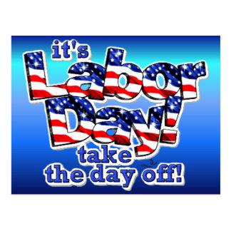 Its Labor Day Postcard