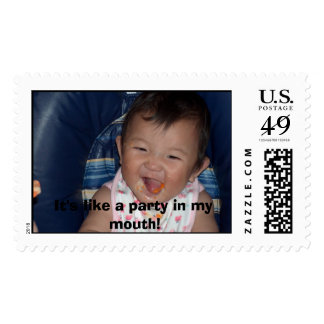 Its like a party in my mouth stamp