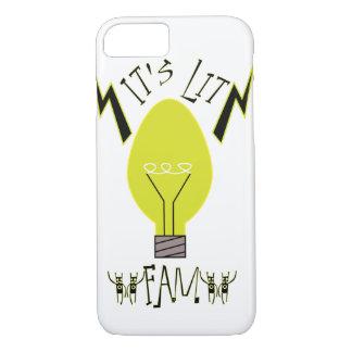 It's Lit Fam! (black fill) iPhone 7 Case