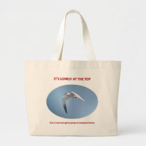 its-lonely-at-the-top-but-at-least-you-get-to-poop jumbo tote bag