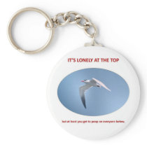 its-lonely-at-the-top-but-at-least-you-get-to-poop keychain