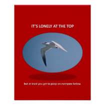 its-lonely-at-the-top-but-at-least-you-get-to-poop poster
