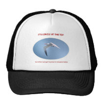 its-lonely-at-the-top-but-at-least-you-get-to-poop trucker hat