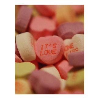 It's Love - Candy Hearts Letterhead