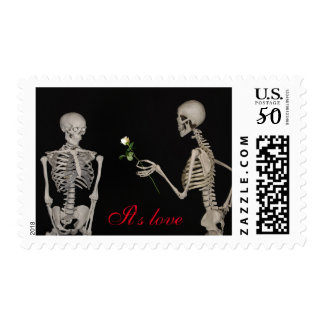 """It's love"" wedding Postage"