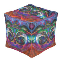 IT'S MAGIC Apopphysis Fractal Owl II   your idea Pouf