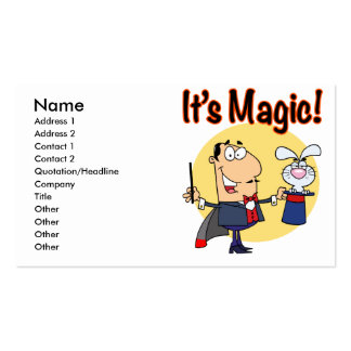 its magic silly magician business card