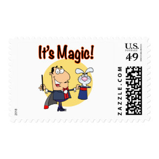 its magic silly magician postage