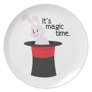 Its Magic Time Melamine Plate