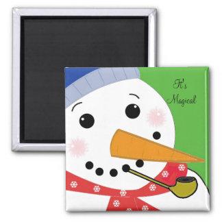 It's Magical Snowman Magnet
