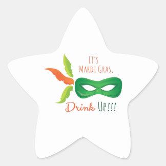 It's Mardi Gras, Drink Up!!! Star Sticker