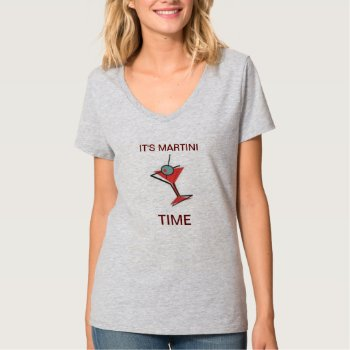 It's Martini Time T Shirt  Womens  Tank Top by creativeconceptss at Zazzle