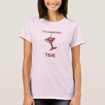 It's Martini Time T Shirt  Womens  Tank Top Pink by creativeconceptss at Zazzle