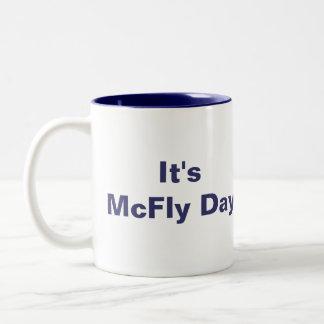 It's McFly Day Mug Blue