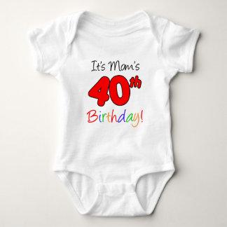 It's Mom's 40th Birthday Baby Bodysuit
