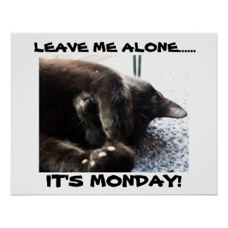 IT'S MONDAY!, LEAVE ME ALONE poster